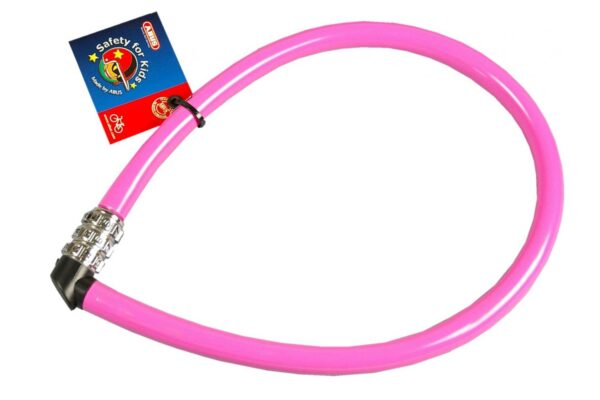 Abus kabelslot 55 cm roze