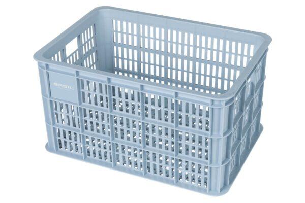 Basil Crate M fietskrat 21063 silver cloud