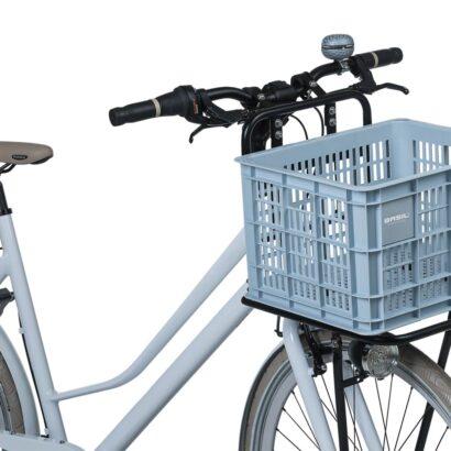 Basil Crate M fietskrat silver cloud