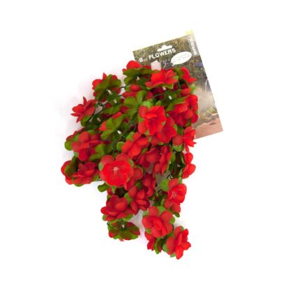 Rode bloemenslinger 120 cm