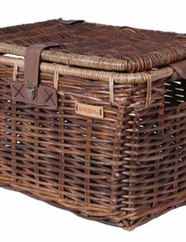 Basil Denton rieten fietsmand bruin/grijs medium