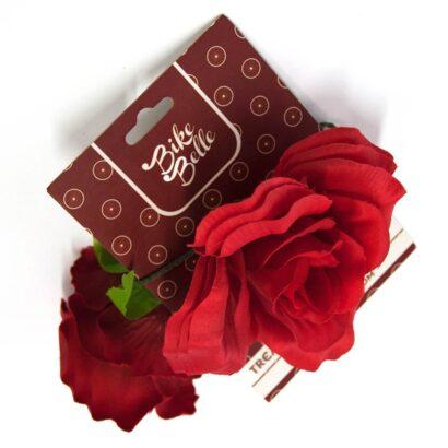 Bike Belle roos met metaaldraad op karton
