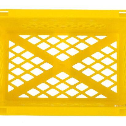 Gele krat mini
