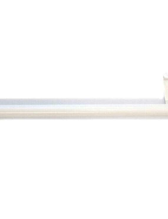 Witte stang Steco met lamphaak voor drager