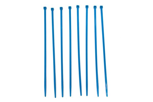 Blauwe tiewrap