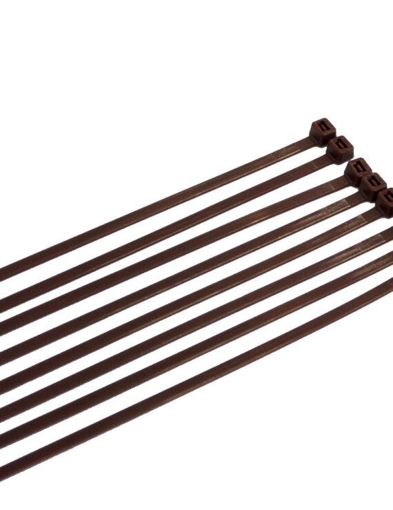 Tiewraps 5 mm 23 kg (per 8 stuks) - Donkerbruin