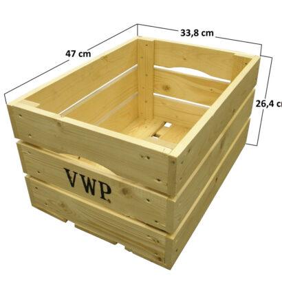 VWP houten fietskrat afmetingen 47 x 33,8 x 26,4 cm